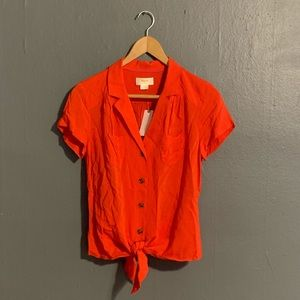 ❤️ Red Blouse by Maeve (Anthropologie) ❤️